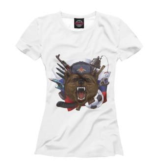 Футболка женская Русский медведь
