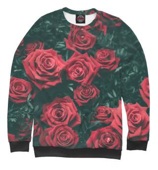 Одежда с принтом Куст роз