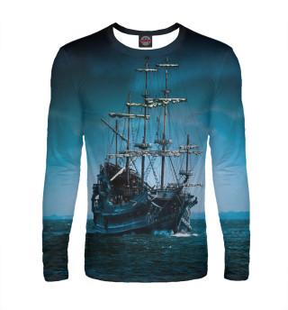 Лонгслив  мужской Военный парусный корабль