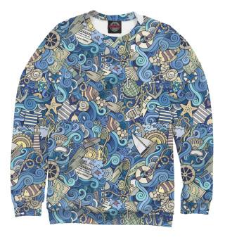 Одежда с принтом Морской коллаж (935131)