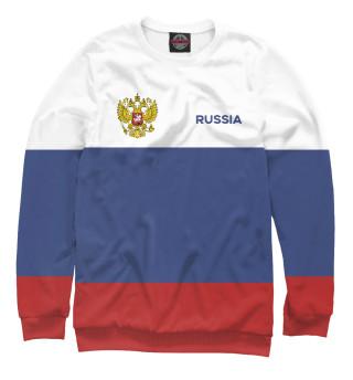 Одежда с принтом Russia Tricolour