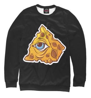 Одежда с принтом Illuminati cheese