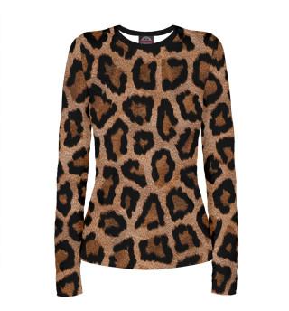 Лонгслив  женский Леопард