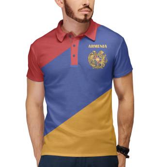 Поло мужское Герб на флаге Армении