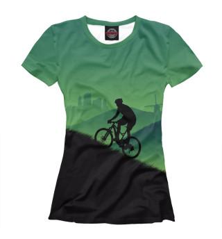 Футболка женская Велосипедист MTB