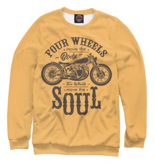 Одежда с принтом Two wheels