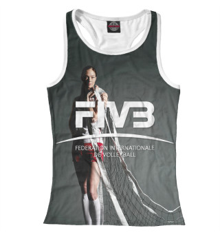 Майка борцовка женская FIVB, Federation Internationale de Volleibal