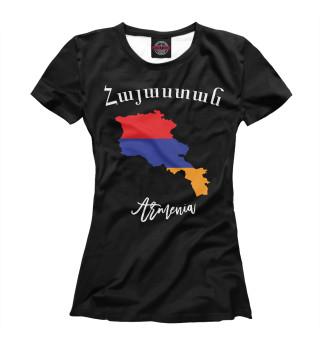 Футболка женская Армения (5348)