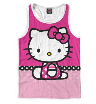 Майка борцовка мужская Hello Kitty (8605)