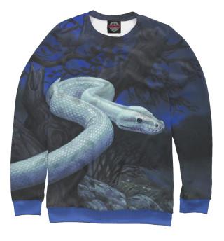 Одежда с принтом Белая змея