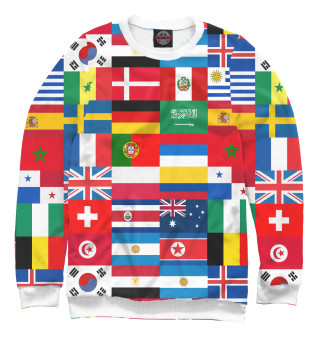Одежда с принтом Флаги стран