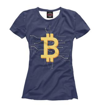 Футболка женская Криптовалюта биткоин