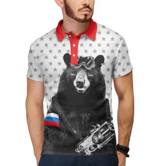 Поло мужское Армейский медведь