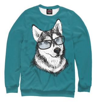 Одежда с принтом Собачка в очках (673946)
