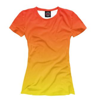 Футболка женская Градиент: Красный в Желтый