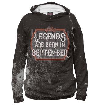 Худи женское Legends Are Born In September