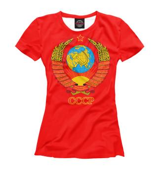 Футболка женская Герб СССР