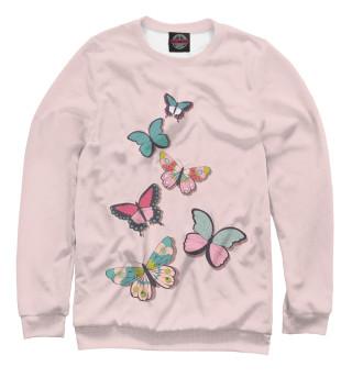 Одежда с принтом Стайка бабочек