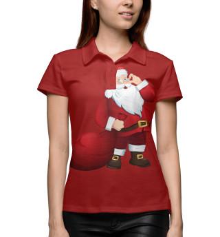 Поло женское Дед Мороз