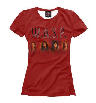 Футболка женская W.A.S.P. band (8814)