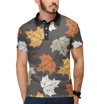 Поло мужское Осенние листья