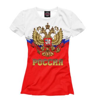 Футболка женская Россия (4509)