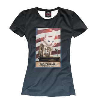 Футболка женская Mr. Pebbles