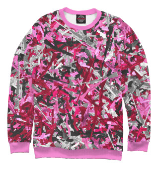 Одежда с принтом Розовый камуфляж с оружием