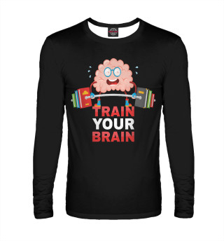 Лонгслив  мужской Train your brain