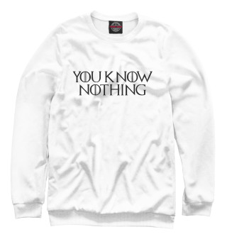 Одежда с принтом You know nothing