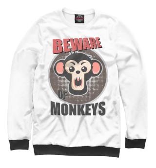 Одежда с принтом Beware of Monkeys