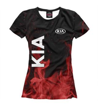 Футболка женская KIA red fire