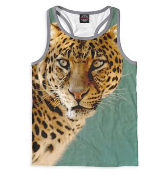 Майка борцовка мужская Леопард (5078)
