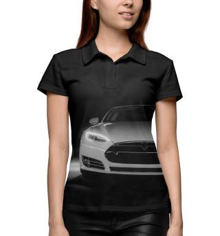 Поло женское Tesla Model S