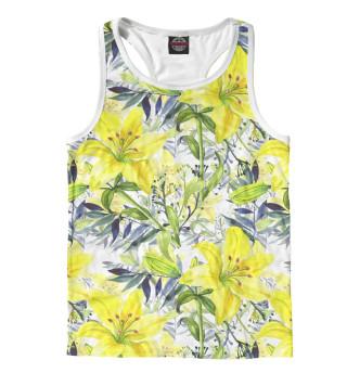 Майка борцовка мужская Жёлтые лилии
