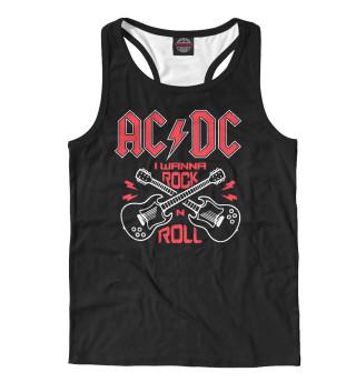 Майка борцовка мужская AC DC (4206)