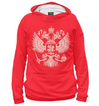 Худи женское герб на красном