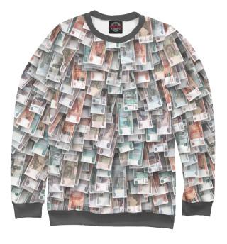 Свитшот  женский Российские деньги