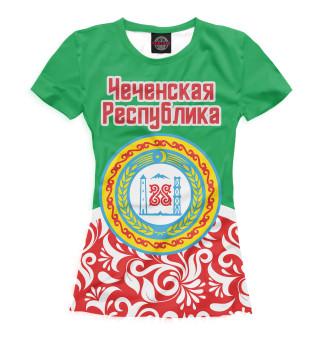 Футболка женская Чечня (6078)