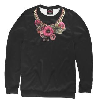 Одежда с принтом Золотые цветы (122155)