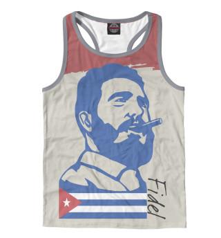 Майка борцовка мужская Фидель Кастро - Куба