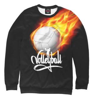 Одежда с принтом Волейбольный мяч в огне
