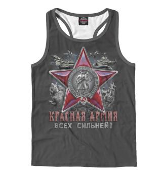 Майка борцовка мужская Красная армия