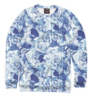 Одежда с принтом Голубые розы