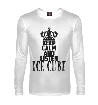 Лонгслив  мужской Keep calm and listen Ice Cube