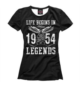 Футболка женская 1954 - рождение легенды