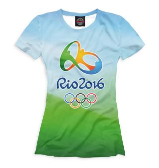 Футболка женская Олимпиада Рио-2016 (6701)