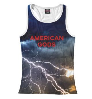 Майка борцовка женская Американские Боги