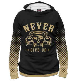 Худи женское Never give up