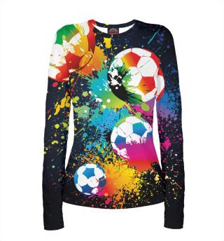 Лонгслив  женский Футбол (8121)